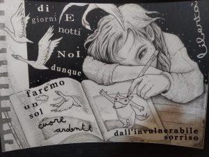 Dibujado por Anna Beniamino, presa en la operación Scripta Manent